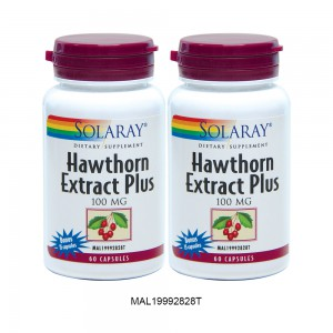 [TWIN PACK] SOLARAY HAWTHORN EXTRACT PLUS - 2 x 75 Capsules (MAL19992828T)